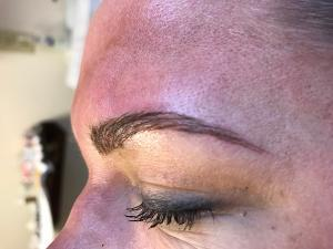 Before and after microblading pictures