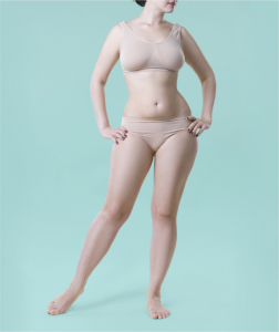 Mommy Makeover Candidate Posing in Underwear