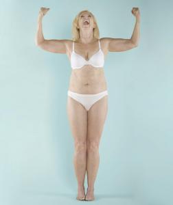 Menopause Makeover Candidate Posing in Underwear